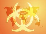 Biohazard sign, warning alert for hazardous bio materials poster