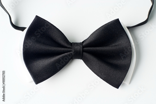 Mens black and white necktie