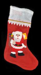 Weihnachtsstiefel mit Weihnachtsmann aus Filz