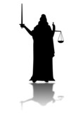 Lady of Justice with reflection poster