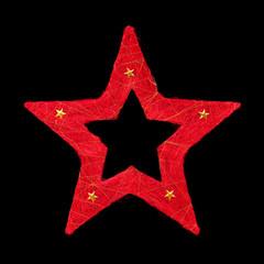 Roter Weihnachtsstern freigestellt