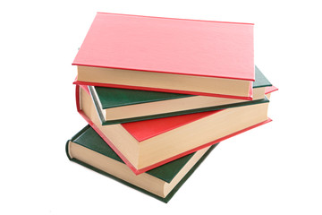Photo of an four book on a white background