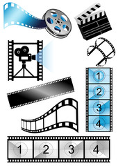 Movie objects, vector illustration
