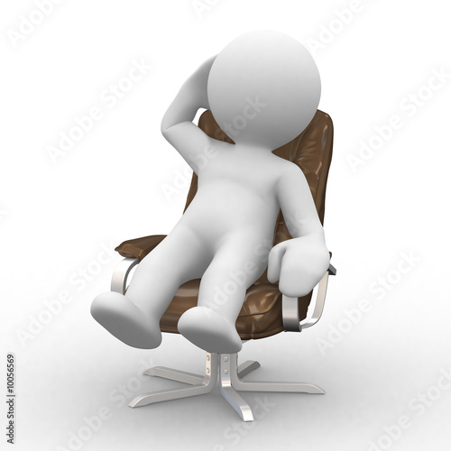 3d supervisor manager in chair