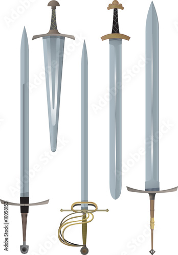 Different medieval swords
