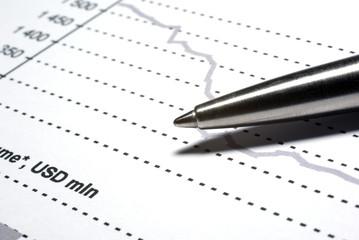 Steel pen macro on financial report.