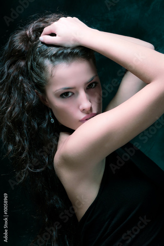 beautiful woman portrait, studio shot