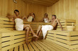 Gruppo in sauna