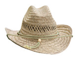 Flax Woven Stetson isolated with clipping path poster