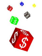 cube with dollar symbol