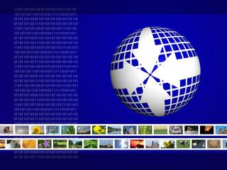 multimedia television background