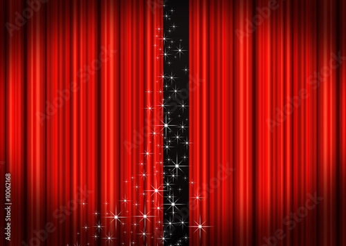 Papiers peints Opera, Theatre Red stage curtains