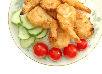 coconut shrimp dish