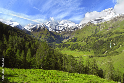 View at alpine mountain peaks - Grossglockner