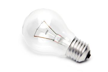 e27 light bulb on white