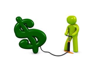3d image, conceptual, pump my dollar