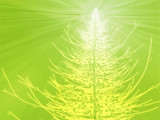 Sparkly christmas tree, abstract graphic design illlustration poster