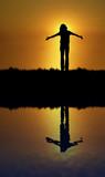 Feeling Good Reflection poster