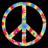 Fototapety Tie Dyed Peace Symbol