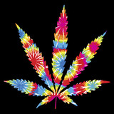 Tie Dyed Pot Leaf poster