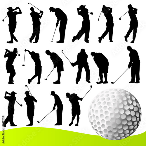 golf ball vector. golf player vector