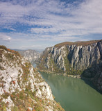 Autumn in the Danube Gorges, Romania. poster