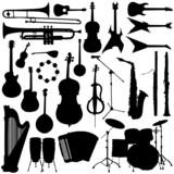 Fototapety music instrument vector