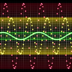 High tech electronic display with wave chart