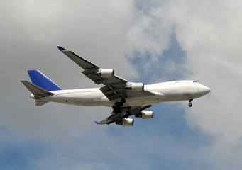 Jumbo jet delivering cargo and freight worldwide