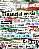 Financial crisis headlines poster