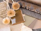 Fototapety Earthy brownish interior design plan