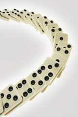 Row of Dominoes on Seamless Background