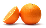 Finely retouched orange isolated on white background poster