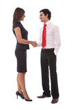 business agreement concept with businesswoman poster