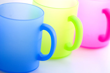 rainbow color picnic cups for kids