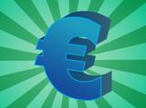 European Union Euro Currency symbol isometric illustration poster