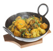 Indian vegetable curry with cauliflower, spinach and potatoes