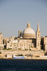 grand harbor  st. john's cathedral  palace valletta malta