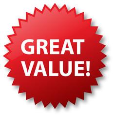 Sale Sticker - Great Value