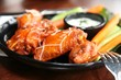 Spicy Buffalo Wings Bleu Cheese Dipping Sauce