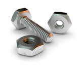 Fototapety screw and nuts