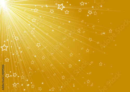 merry christmas stars, gold background
