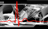 Normal red ecg background, heartbeat. poster