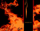 Abstract fiery background illustration with hot flames.