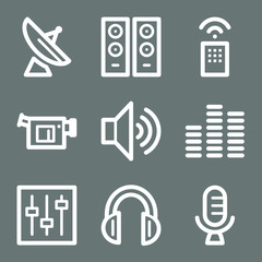 White media web icons V2