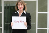 corporate woman for hire, employment unemployment poster