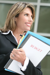 Successful business woman or politician planning a budget