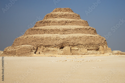 Ancient step pyramid of Djoser (Zoser) in Egypt, near Cairo