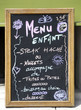 Children menu sign outside a French restaurant