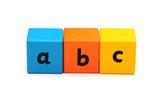 ABC bricks poster